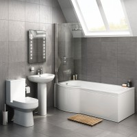 P Shaped bath suite